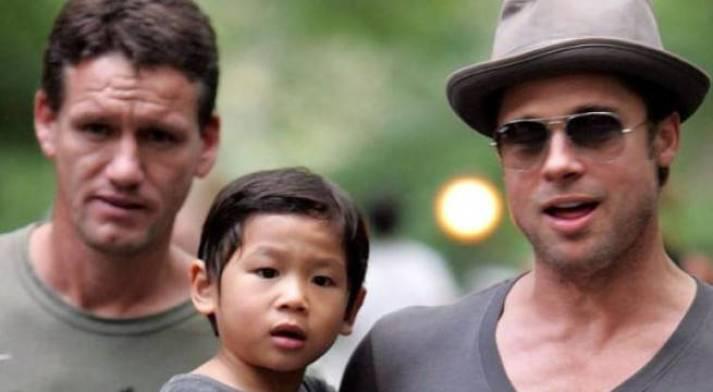 Brad Pitt with Bodyguard Mark Billy Billingham