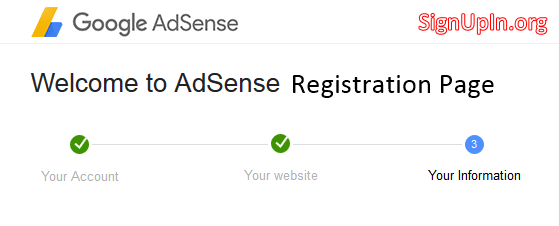 Adsense Registration