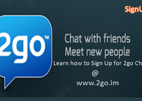Sign Up for 2go Chat Account registration