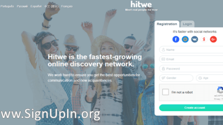 VK.com hitwe Registration