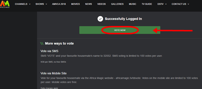 BBvoting page