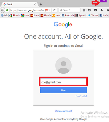 Your Gmail Login Page