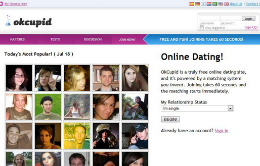 OkCupid Online Dating Site Registration Steps