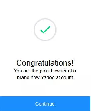 Yahoo Mail Account Successful Set up