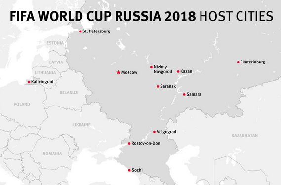 2018 Russia World Cup Host Cities Review