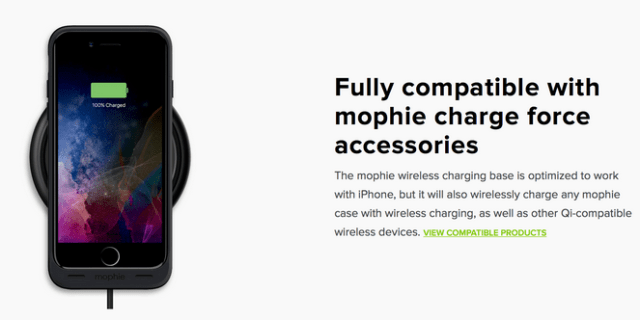 Mophie Wireless Charging Base for iPhone.