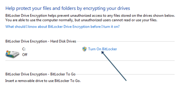 Turn on BitLocker Encryption.