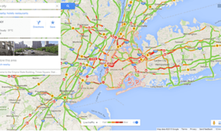 Image: Check Traffic in Google Maps