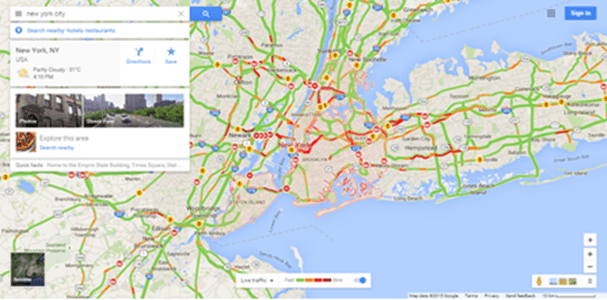 How To Check Traffic in Google Maps