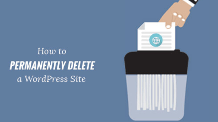 Image: Delete WordPress Website