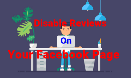 Image: Disable Facebook Page Reviews
