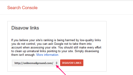 disavow links on google
