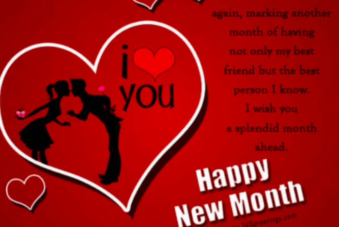 Facebook Romantic New Month Messages For Lovers