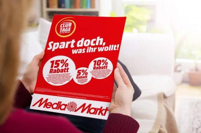 MediaMarkt Club-Tage: Noch bis 6. Oktober bis zu 15 Prozent Rabatt sichern