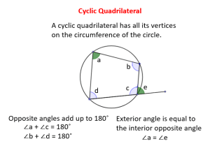 Quadrilateral Circle (solutions, examples, videos)