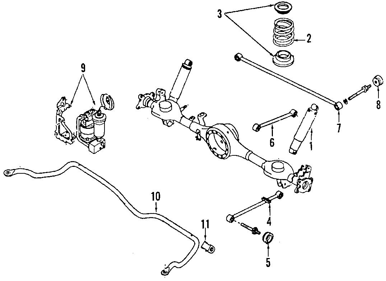 Mazda Suspension Stabilizer Bar Bushing Rear