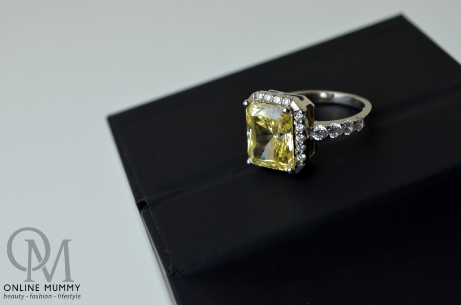 Tru Diamonds Yellow Champagne 4.7ct Platinum Ring