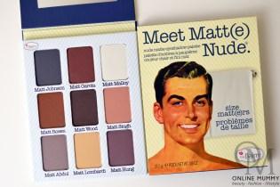 theBalm Meet Matt Nude Palette