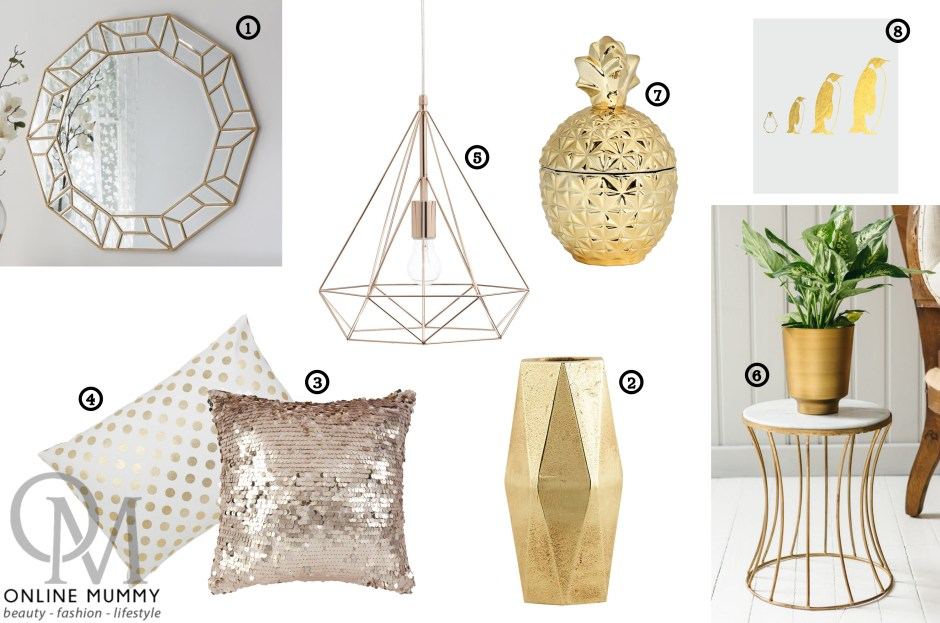 Home Décor – A touch of Gold
