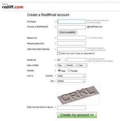 www.rediffmail.com - Create Rediffmail Account, Login Rediffmail