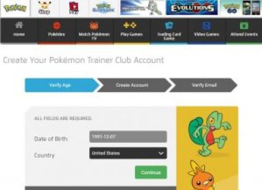 www.pokemon.com: Create Pokemon Trainer Club Account