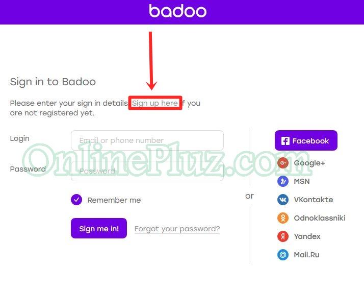 Sign badoo in com Badoo dating