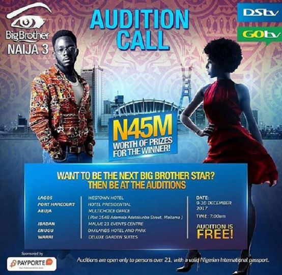 Big Brother Naija Audition Requirement