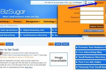 Bizsugar Account Registration