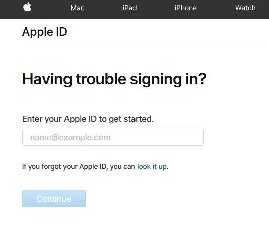 Reset Apple Password Online