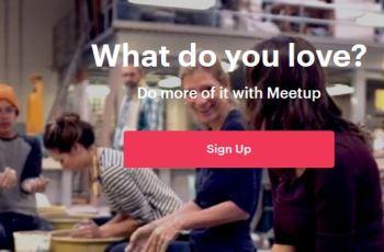 create meetup account