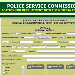 Nigerian police force recruitment 2018