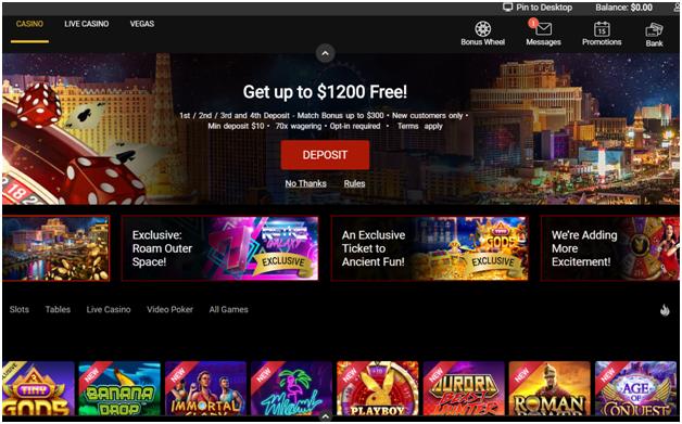 $1200 NZ free at Royal Vegas