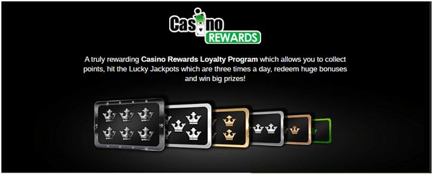 Casino action rewards
