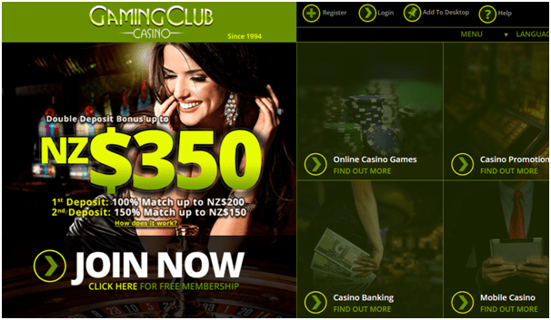 Gaming Club Casino NZ