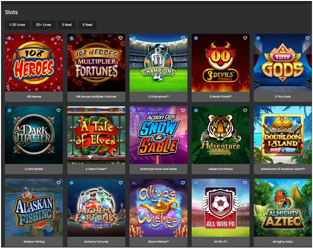 Grand Mondial Casino slot games
