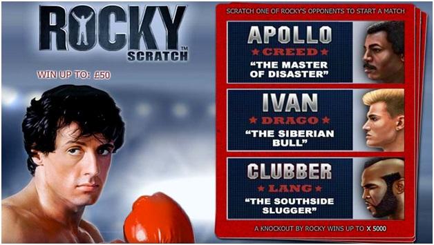 Rocky scratchcard