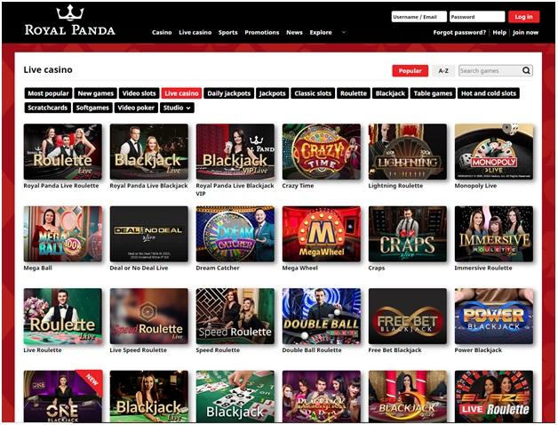 Royal Panda Variety of Games to play