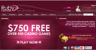 Ruby Fortune Casino- Paypal