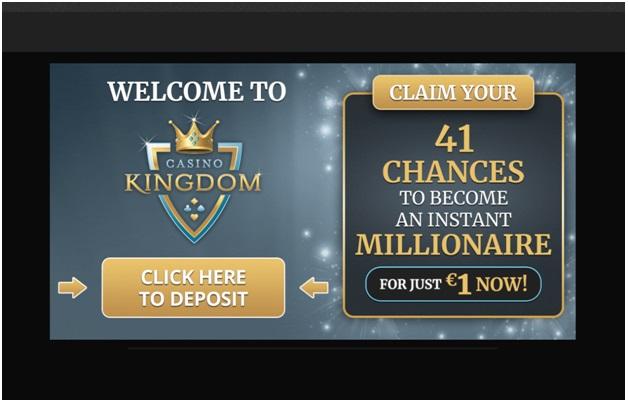 Sign up bonus at Casino Kingdom NZ