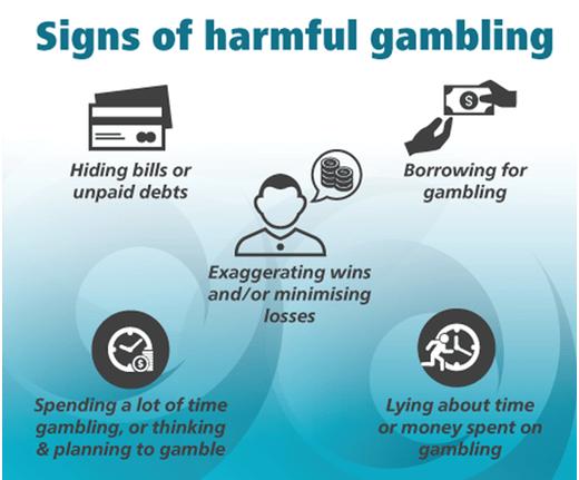 Signs of harmful gambling
