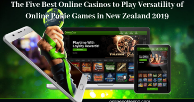 The Five Best Online Casinos to Play Versatility of Online Pokie Games in New Zealand 2019