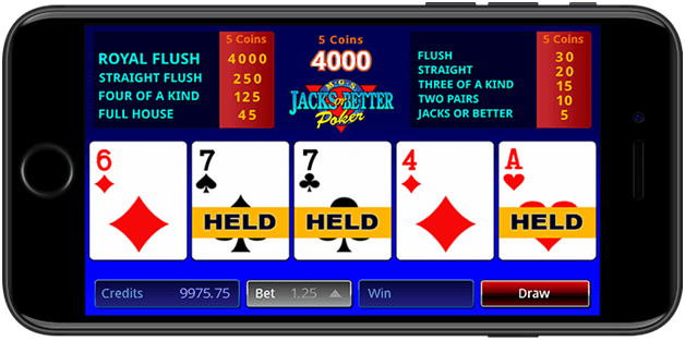 Video poker games at Royal Vegas