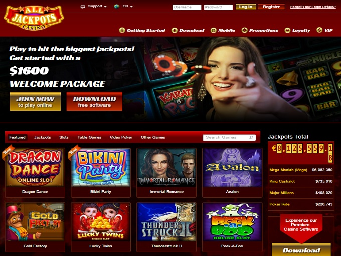 All Jackpots Casino Bonus