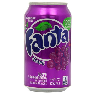 FANTA GRAPE SODA CAN 355ML