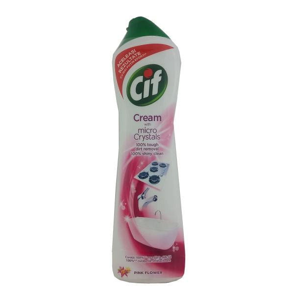 Cif Cream with Micro Crystals Pink Flower 500ml