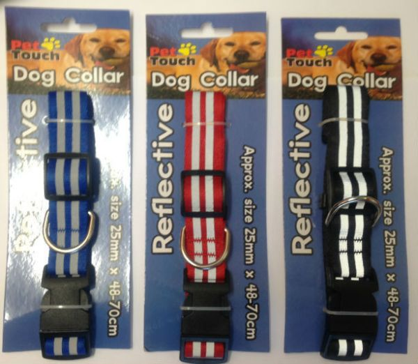 Reflective dog collar (colour may vary - One only supplied )
