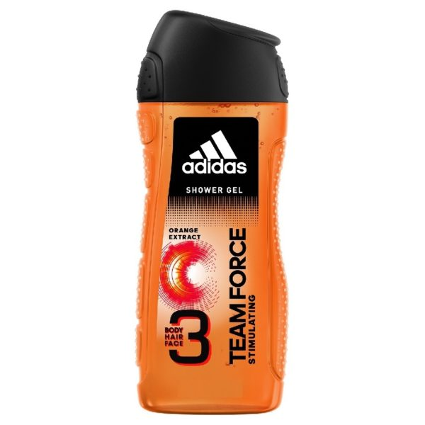 Adidas TEAM FORCE 3 in 1 Shower Gel for Body, Hair, Face 400 ml