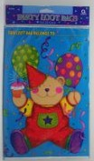 Teddy Bear Party Loot Bags (8 Pieces)