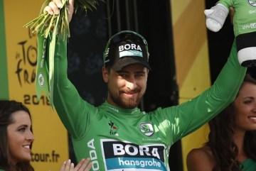 Peter Sagan na Tour de France 2018 - zeleny dres