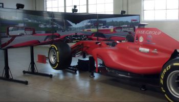 Full Motion F1 Simulator built by CXC Simulations